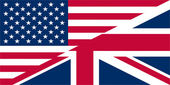 UK USA flags — Stock Photo