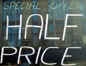 Half price — Fotografia Stock