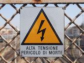 Signo de choque eléctrico — Foto de Stock