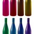 Eight wine bottles — Stock Vector #8541970