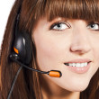 Portrait of a beautiful female, call centre employee — Stock Photo #10169181