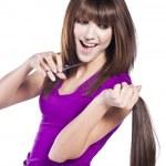 Woman loosing hair — Stock Photo #10170246