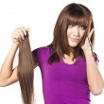 Woman loosing hair — Stock Photo #10170253