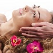 Attractive woman getting spa treatment — Stock Photo #10241851