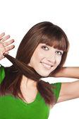 Kadın saç kaybedilen — Stok fotoğraf