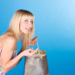 Sweet blonde with service — Stock Photo #9069922