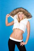 Beautiful woman with winter turtleneck — Stock Photo
