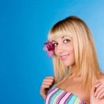 Fashion portrait of a beautiful blonde — Stock Photo #9070760