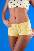 Slim ragazza bella pancia — Foto Stock
