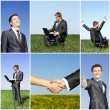 Business collage young successful man - Stock Photo