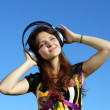 Music girl — Stock Photo