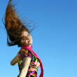 Portrait of a young lady in the wind — Stock Photo #9111634
