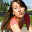 Stock Photo: Young girl lets kiss
