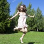 Beautiful Jumping Girl — Stock Photo