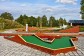 Mini golf ready to play. Outdoors scene — Stock Photo