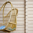 Swinging bench in the garden — Stock Photo