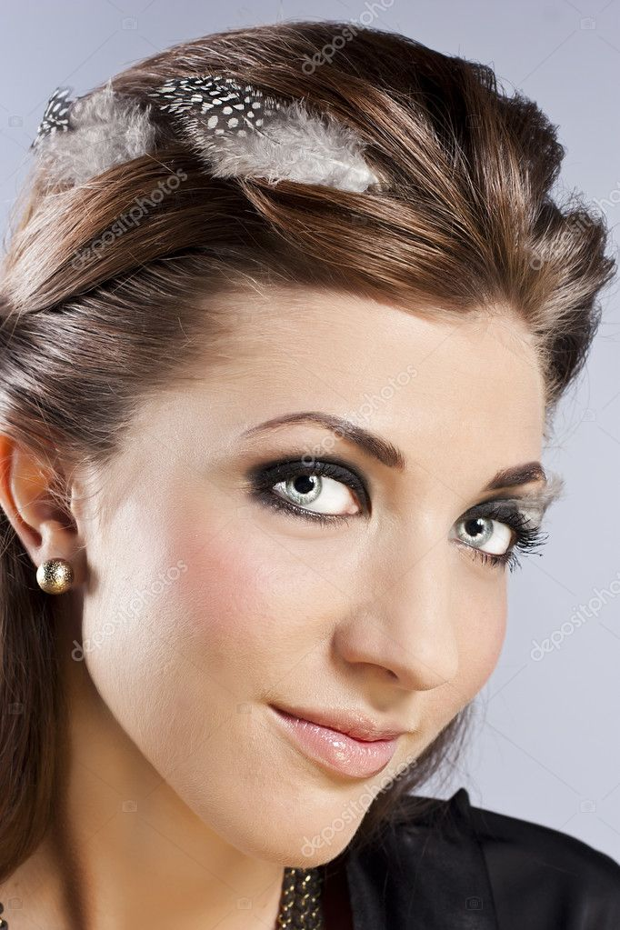 Young beautiful woman in the studio — Stock Photo #9357563