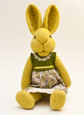 Beautiful vintage plush bunny toy — Stock Photo