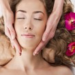 Beautiful young woman relaxed, in the spa salon — Stock Photo