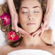 Beautiful woman in spa salon — Stock Photo #9479982