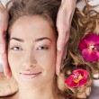 Beautiful young woman relaxed, in the spa salon — Stock Photo #9805883
