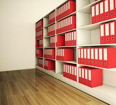 棚のアーカイブ フォルダー。3 d 画像 — ストック写真