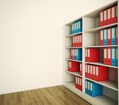 Shelf archive folder. 3d image — Stock Photo