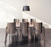 Interiör bord och stolar — Stockfoto