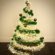 Magic Christmas Tree Decorated — Stock Photo