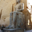 Statue of Ramses II in Luxor Temple — Stock Photo