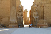 Statues of Ramses II and Obelisk in Luxor Temple — Stock Photo