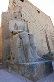 Estatua de ramsés ii en el templo de luxor — Foto de Stock