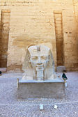 Monument with head of Pharaoh in Luxor Temple — ストック写真
