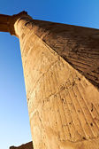 Part of colonnade in Luxor temple — Stock Photo