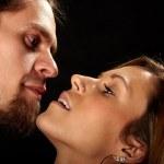 närbild av ungt par i kärlek — Stockfoto #8165182