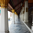 Linear perspective of Ho Phra Monthien hall columns - Stock Photo