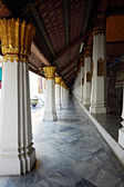 Linear perspective of Ho Phra Monthien hall columns — Stock Photo