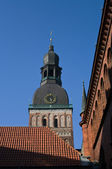 Riga dome in old Riga — Stock Photo