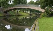 Bridge in City park in centre of Riga — Stock Photo