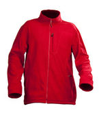 Red male fleece jacket isolated over white — Stock Photo