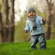 Cute little boy in a spring park — Stock Photo #10649035
