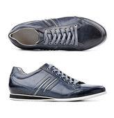 Męskie buty na białej — Zdjęcie stockowe