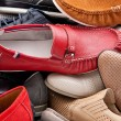Various male shoes background — Stock Photo