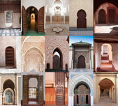 Arab doors and arches — Stock Photo