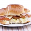 Croissant sandwich — Stock Photo