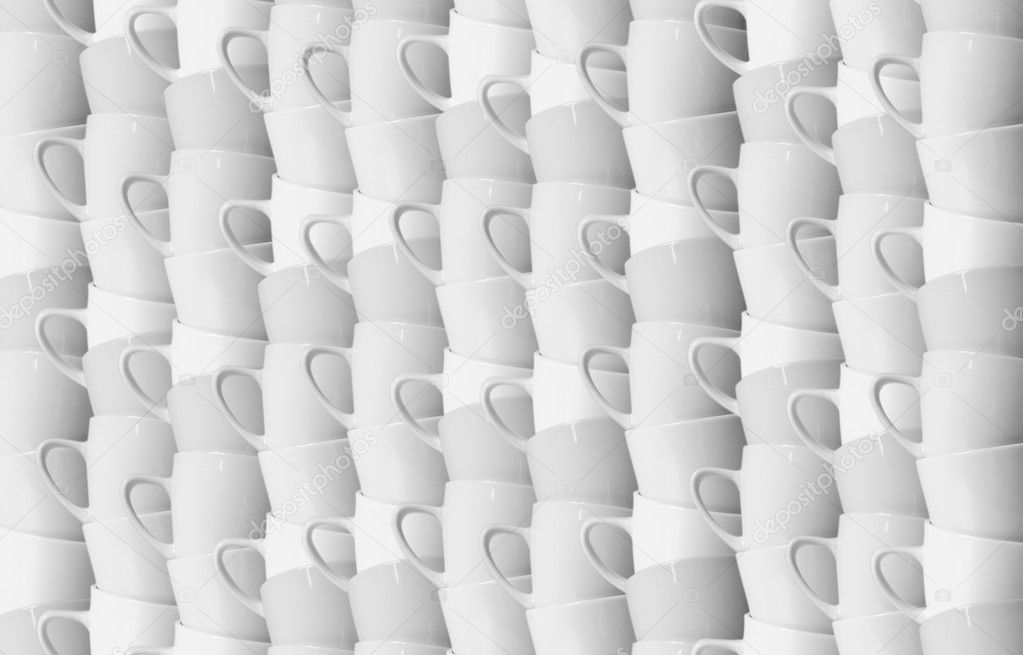 Stacks of coffee cups in abstract background  Stock Photo #8715666