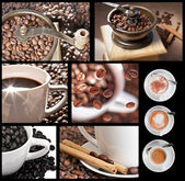 Coffee collage — Stock fotografie