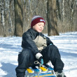 The boy with sled — Stock Photo #9579064