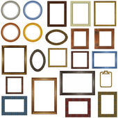 22 different picture frames — Stock Photo