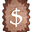 Royalty-Free Stock Photo: 3d bronze dollar mark